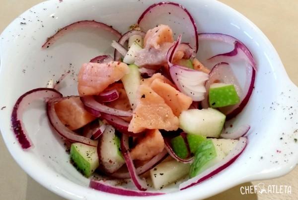 Receta de Ceviche de salmón con manzana