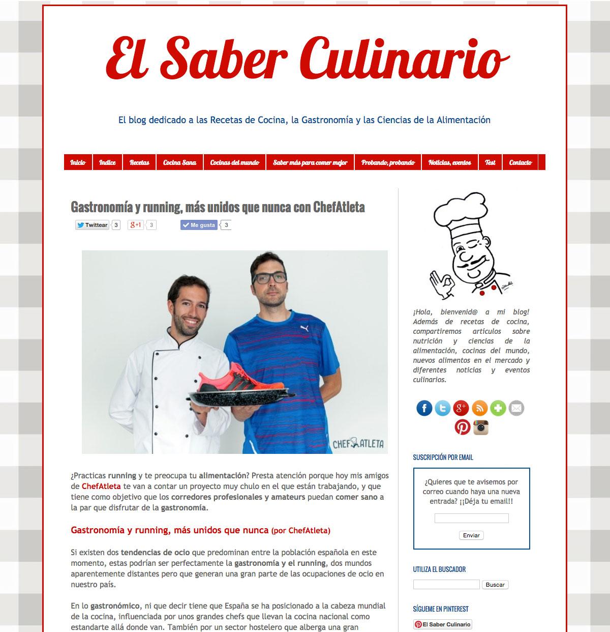 El Saber Culinario habla de Chefatleta - 1