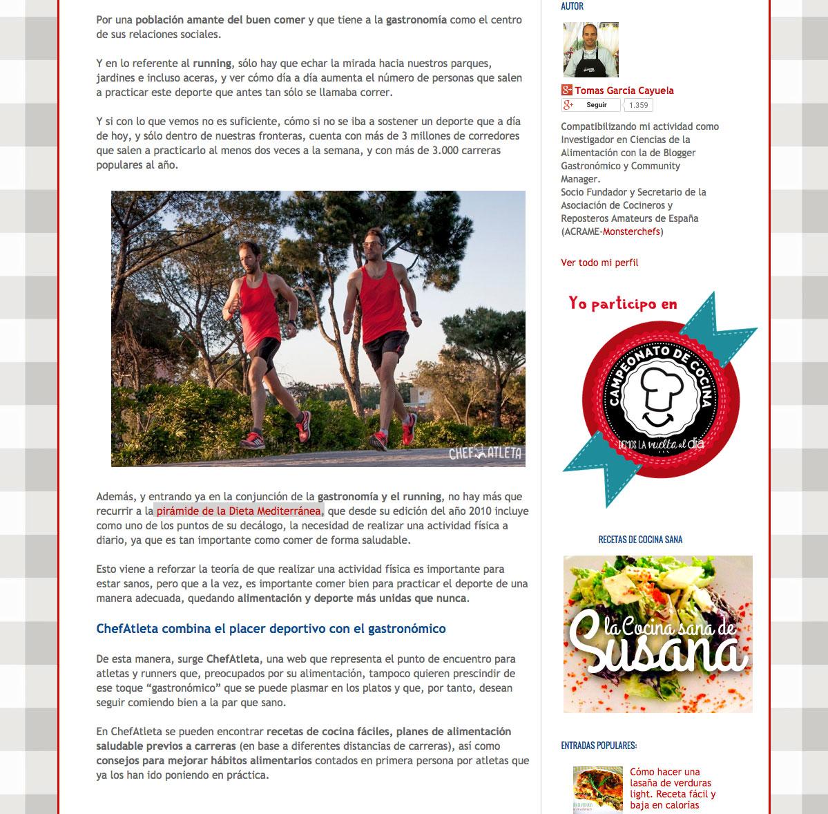 El Saber Culinario habla de Chefatleta - 2