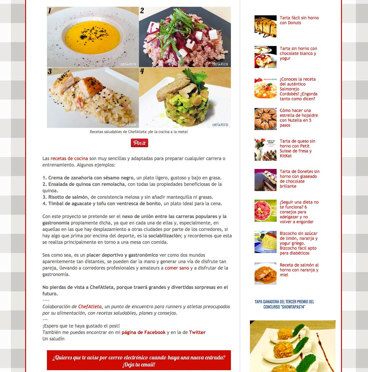 El Saber Culinario habla de Chefatleta - 3