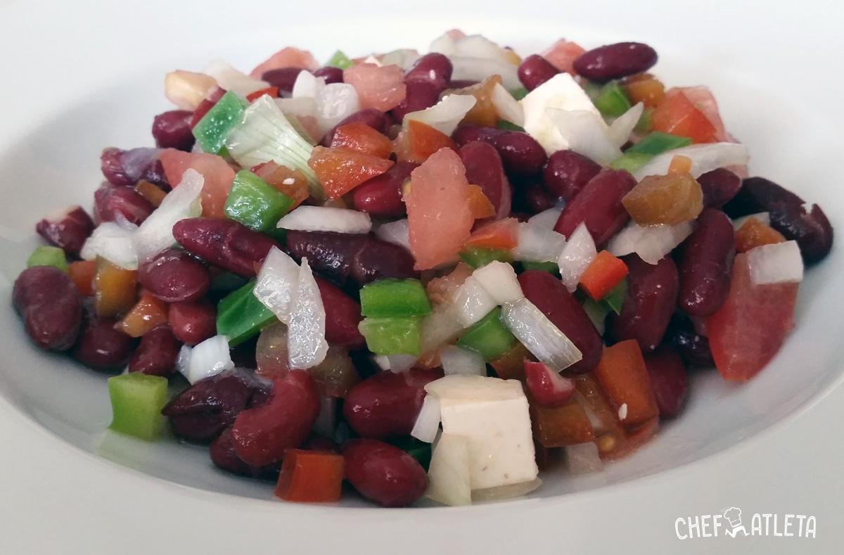 Ensalada de alubias rojas con pimientos