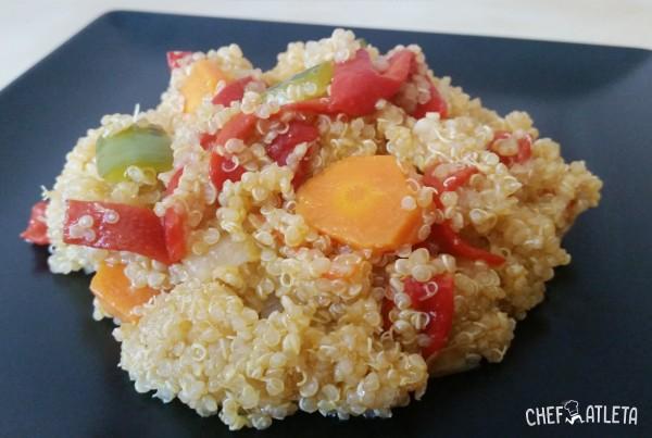 Receta Salteado de Quinoa con pimientos del piquillo