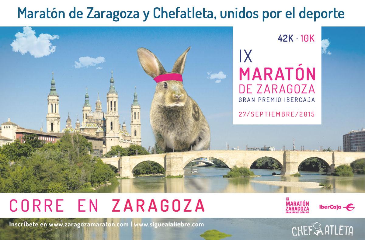 Maratón de Zaragoza y Chefatleta, unidos por el deporte