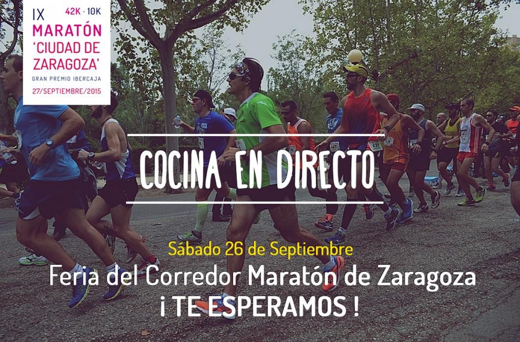 Cocina en directo en la feria del Maratón de Zaragoza