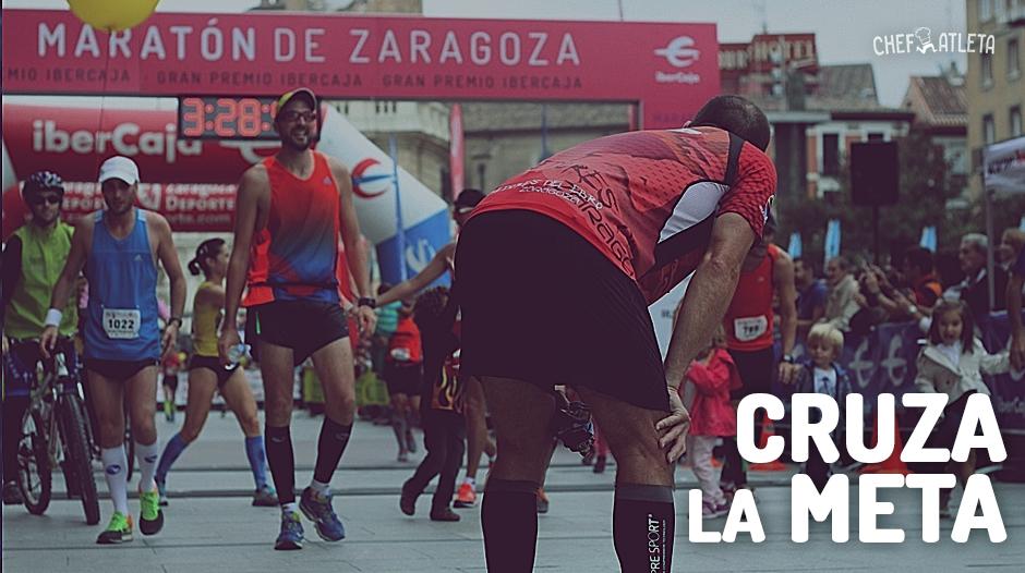 Maratón de Zaragoza - Cruza la Meta