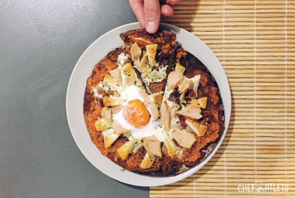 Receta Pizza integral de atún