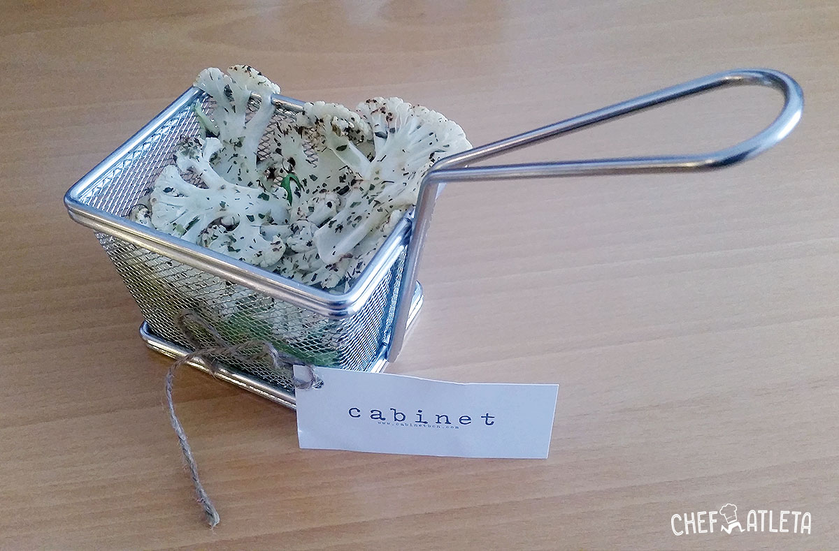 Receta Chips de coliflor al horno