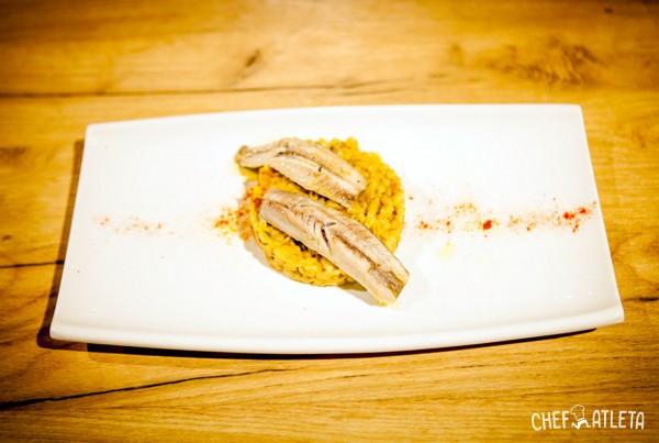 Receta de Meloso de trigo con sardinas marinadas