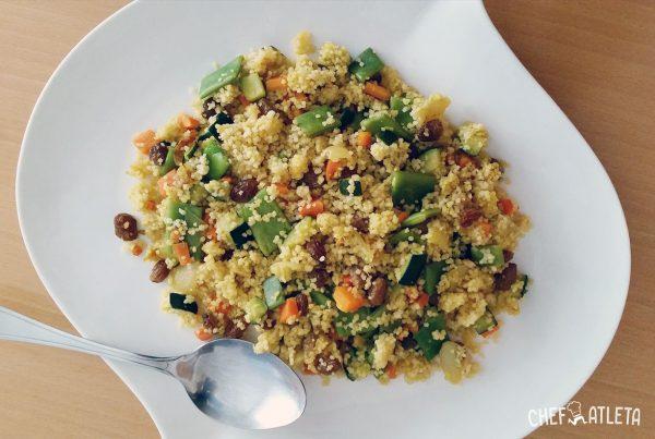 Receta de Cuscús con verduras y pasas