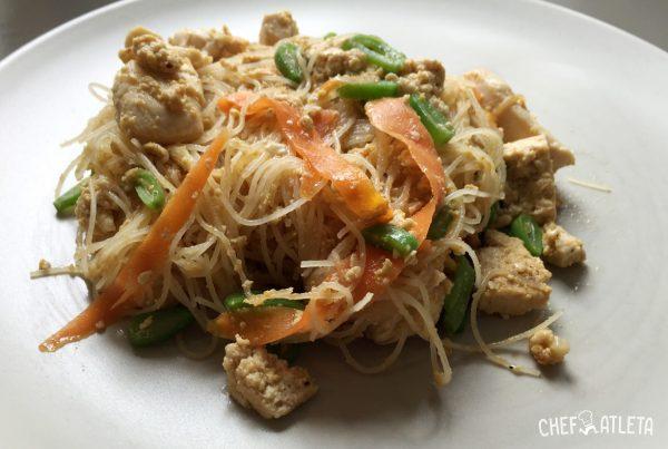 Receta Pad Thai de pollo
