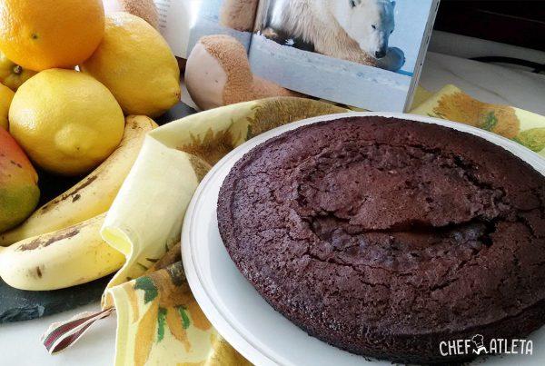 Bizcocho de plátano y chocolate