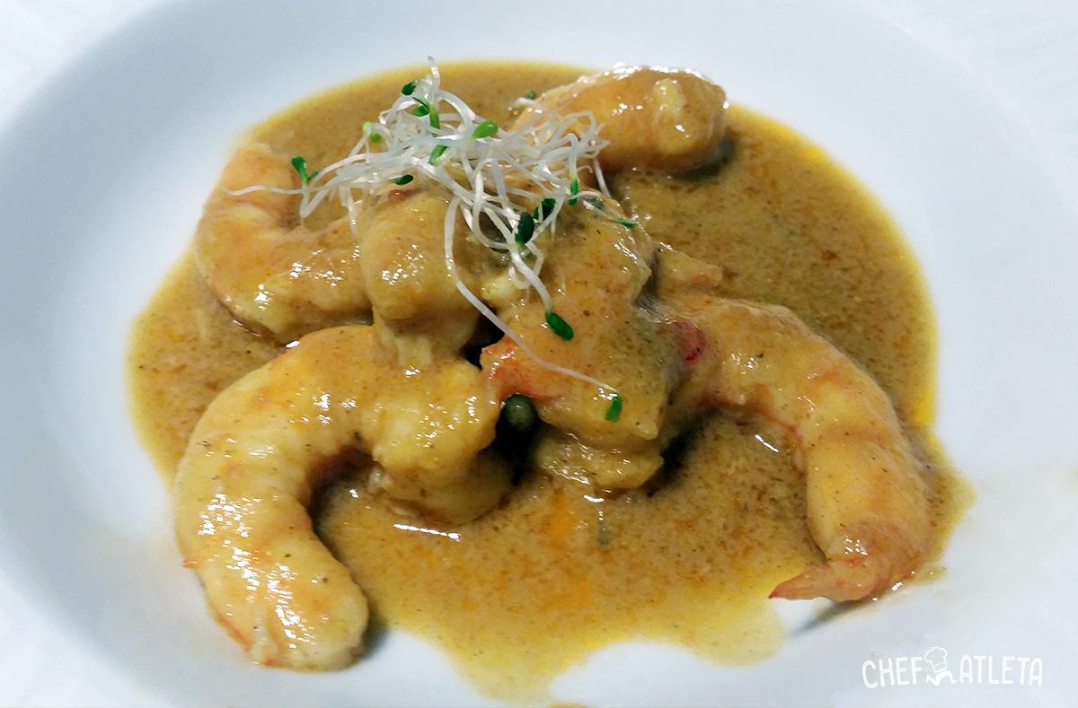 Langostinos al curry estilo Thai