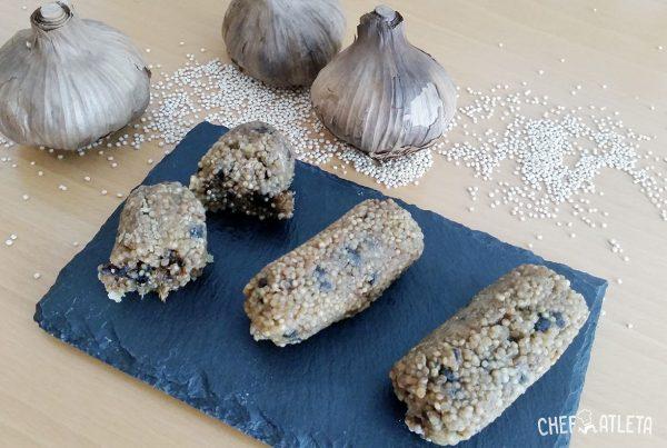 Receta Croquetas de quinoa y ajo negro