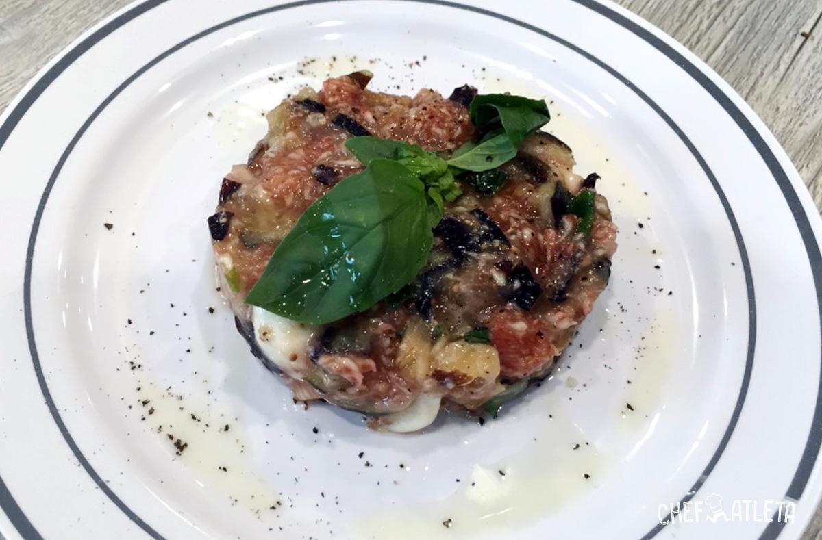 Tartar de higos con mozarella, albahaca y aliño de mostaza y miel