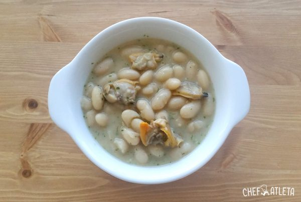 Receta de Alubias con almejas y salsa verde