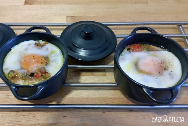 Receta de Huevos en cocotte con pisto Manchego