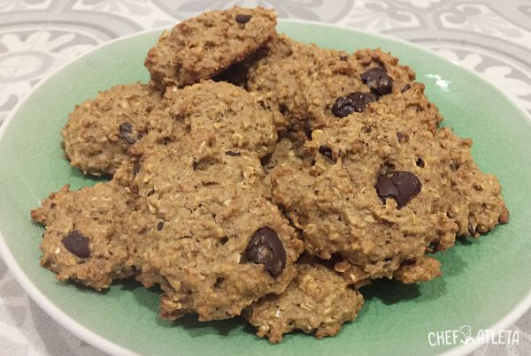 Receta Galletas integrales de avena, chocolate y nueces