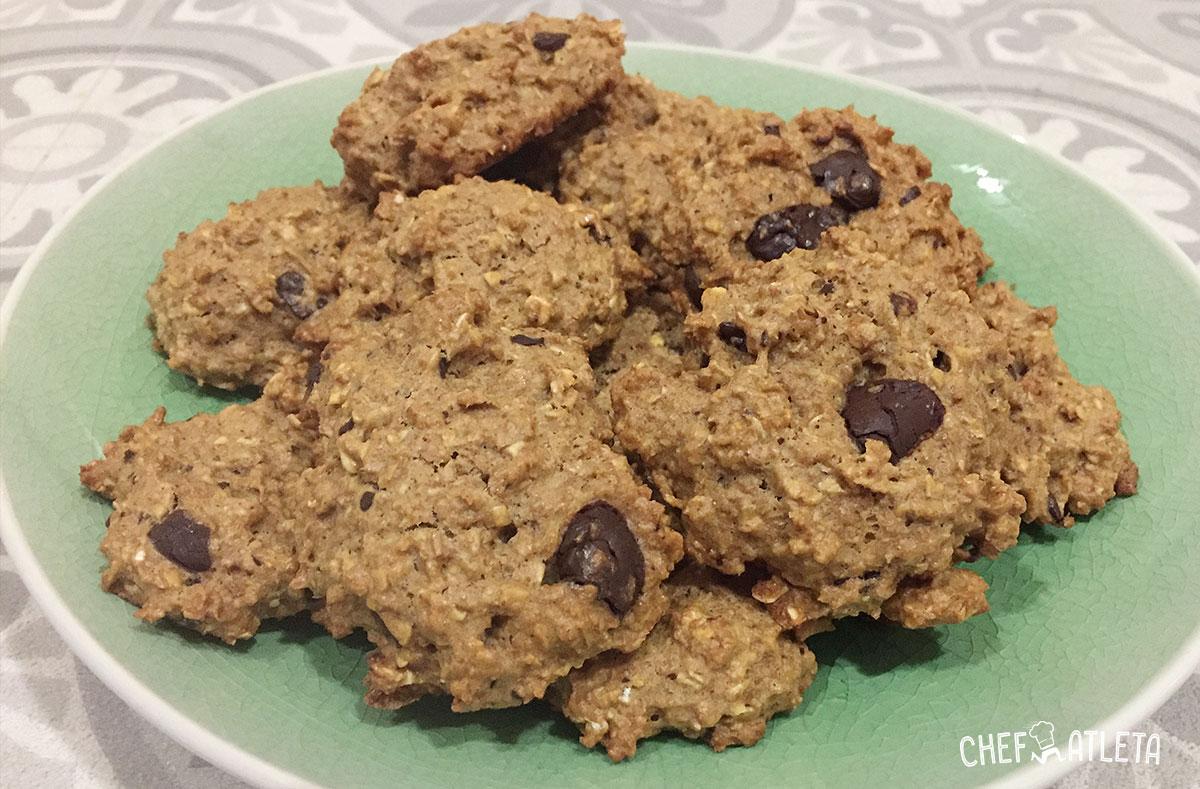 Receta Galletas integrales de avena, chocolate y nueces