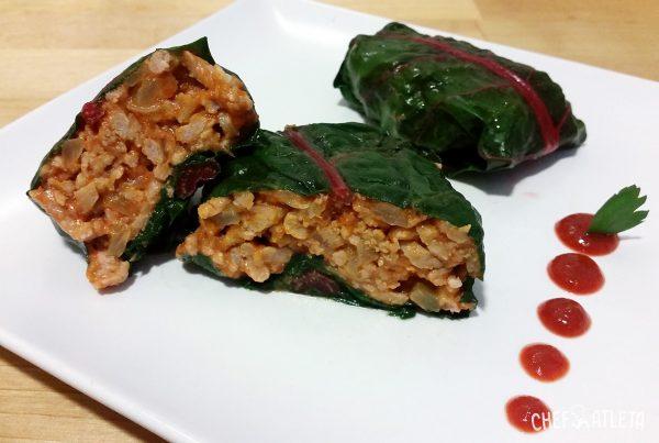 Receta de Raviolis de carne en hoja de acelga