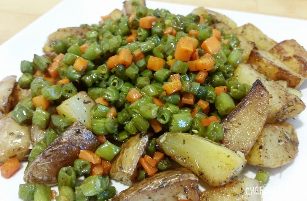 Patatas Salteadas Con Judias Verdes Y Zanahoria Receta Veraniega De soja verde o mungo 300 gr. patatas salteadas con judias verdes y